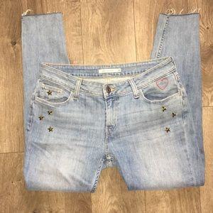 Levi's embellished super skinny jean